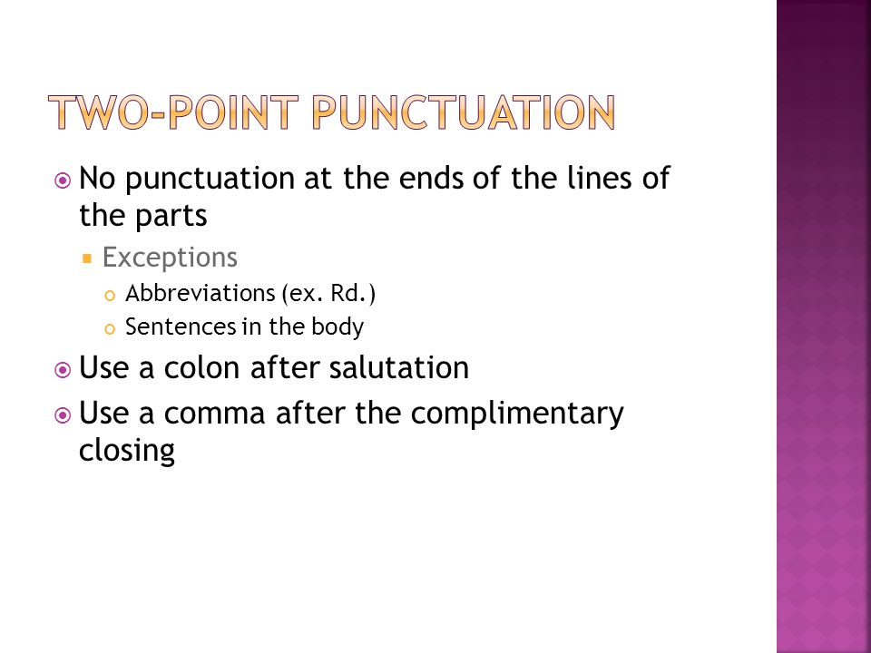 Two-Point Punctuation