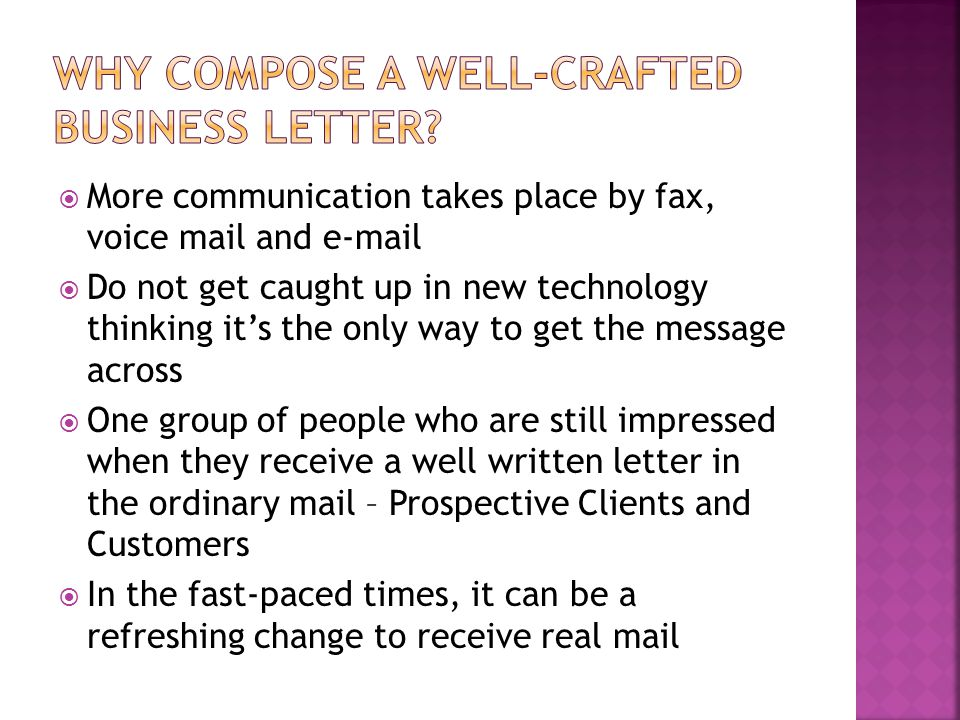 Why Compose a well-crafted business letter