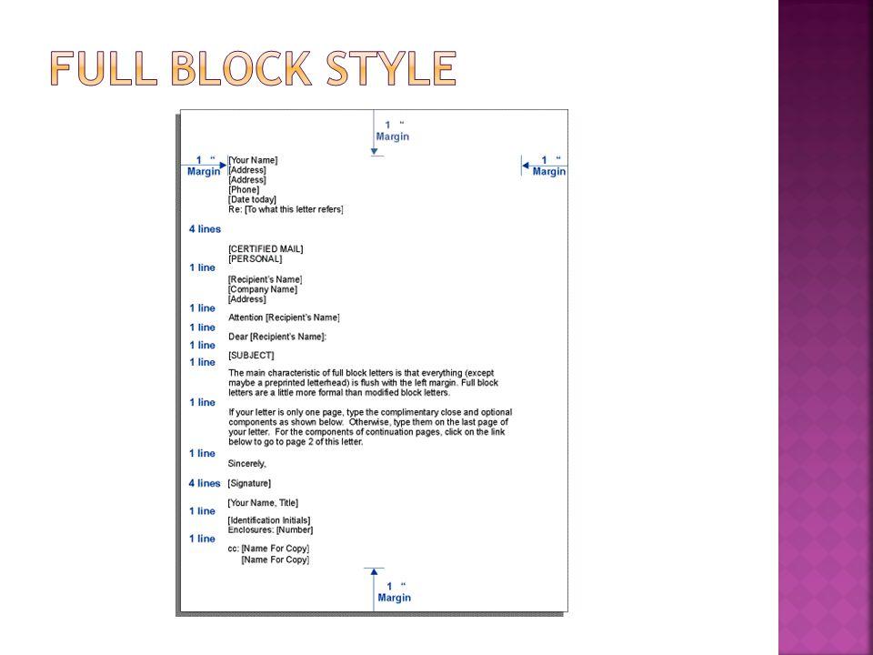 Full Block Style