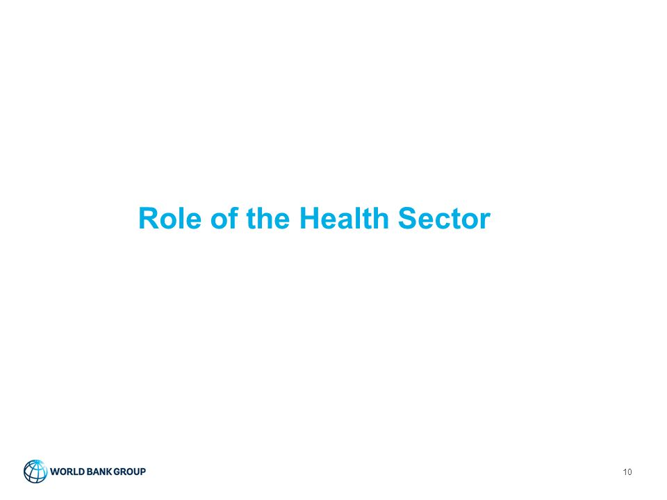 Role of the Health Sector