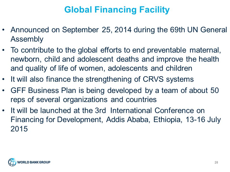 Global Financing Facility
