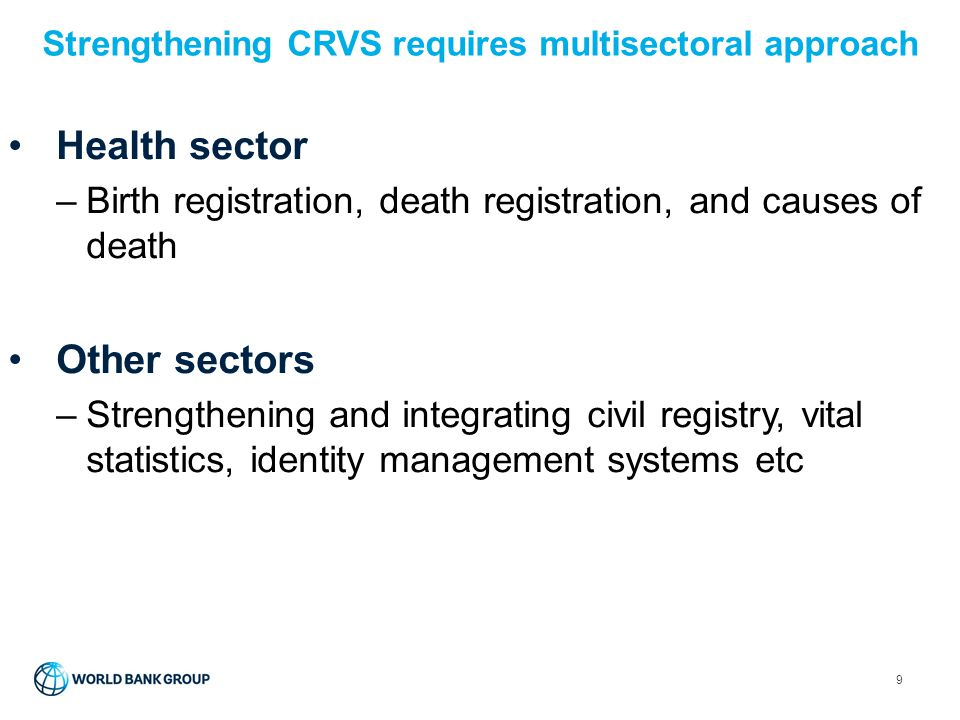 Strengthening CRVS requires multisectoral approach