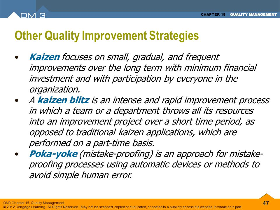 Other Quality Improvement Strategies
