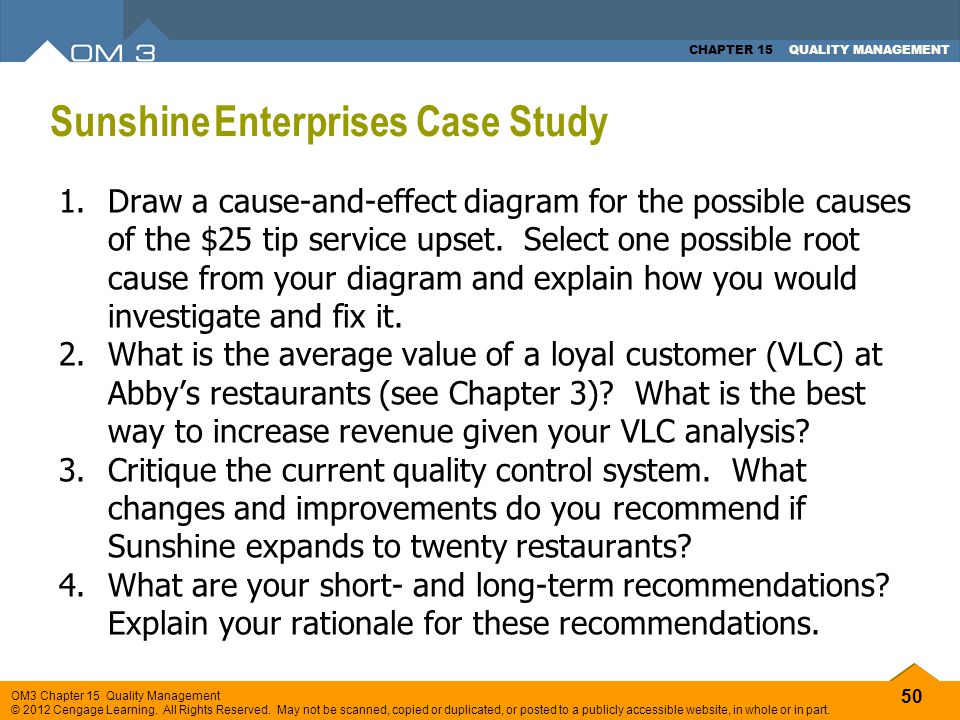 Sunshine Enterprises Case Study