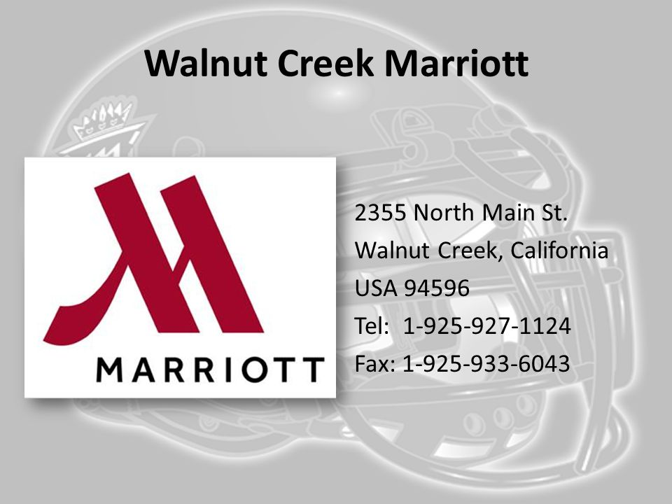 Walnut Creek Marriott 2355 North Main St.