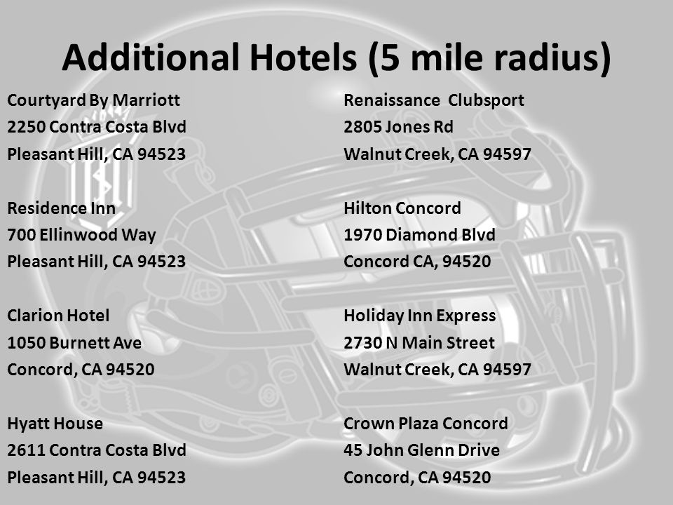 Additional Hotels (5 mile radius)