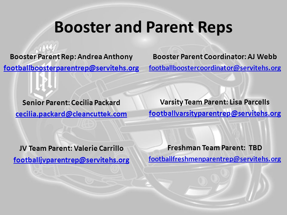 Booster and Parent Reps