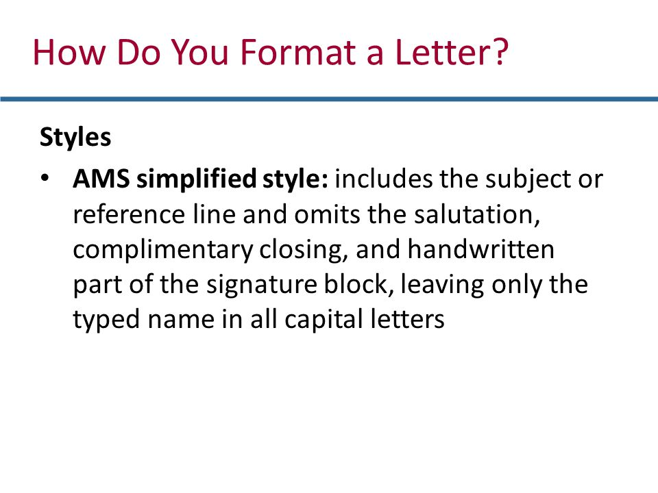 How Do You Format a Letter