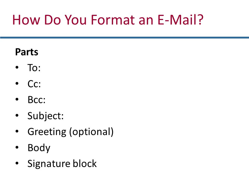 How Do You Format an E-Mail