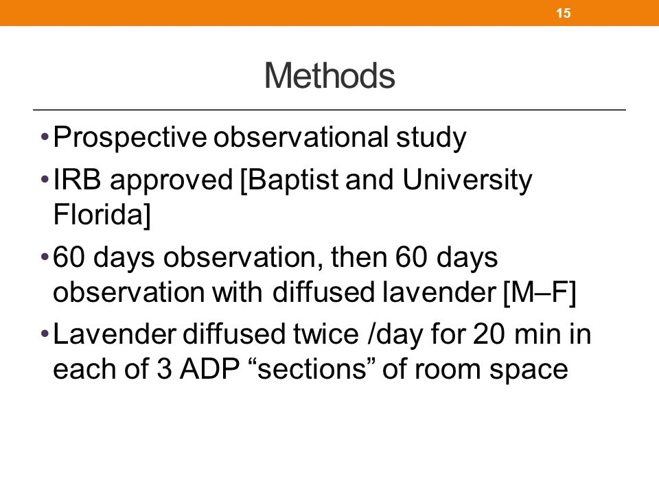 Methods Prospective observational study