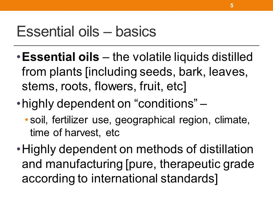 Essential oils – basics
