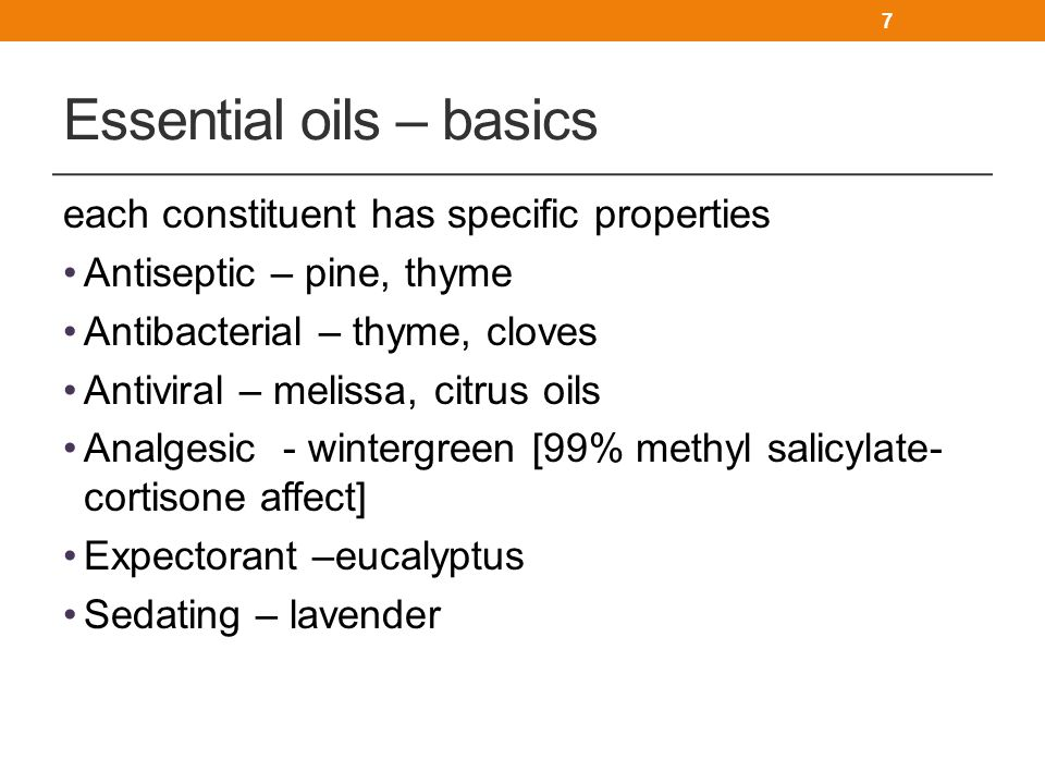 Essential oils – basics