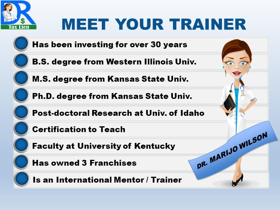 MEET YOUR TRAINER Has been investing for over 30 years