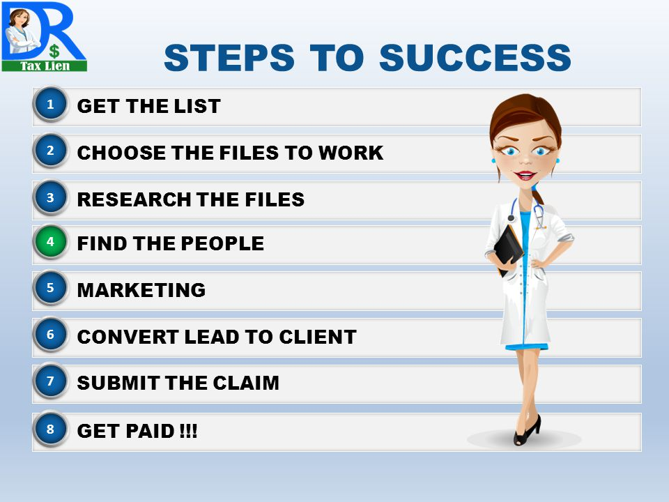 STEPS TO SUCCESS GET THE LIST CHOOSE THE FILES TO WORK