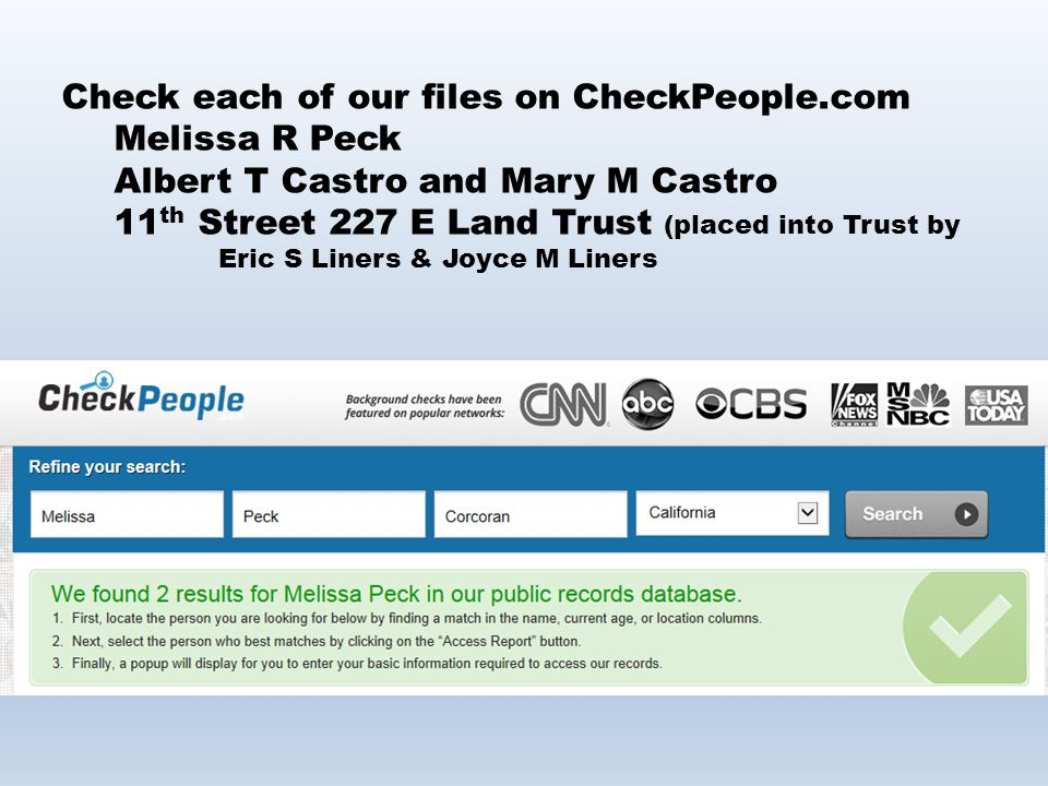 Check each of our files on CheckPeople.com