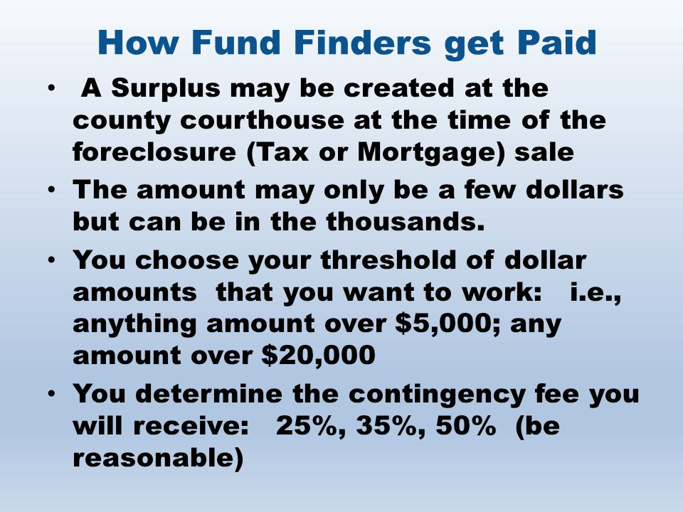 How Fund Finders get Paid