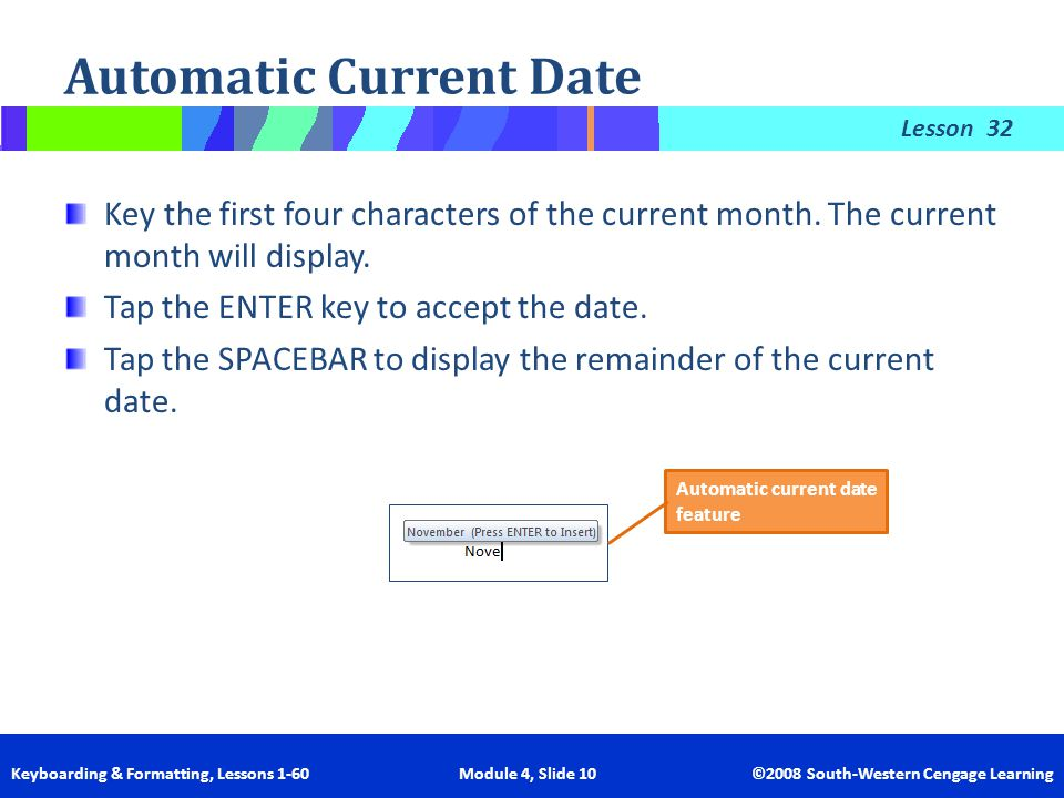Automatic Current Date