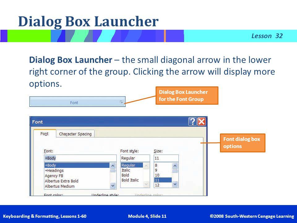 Dialog Box Launcher 32.