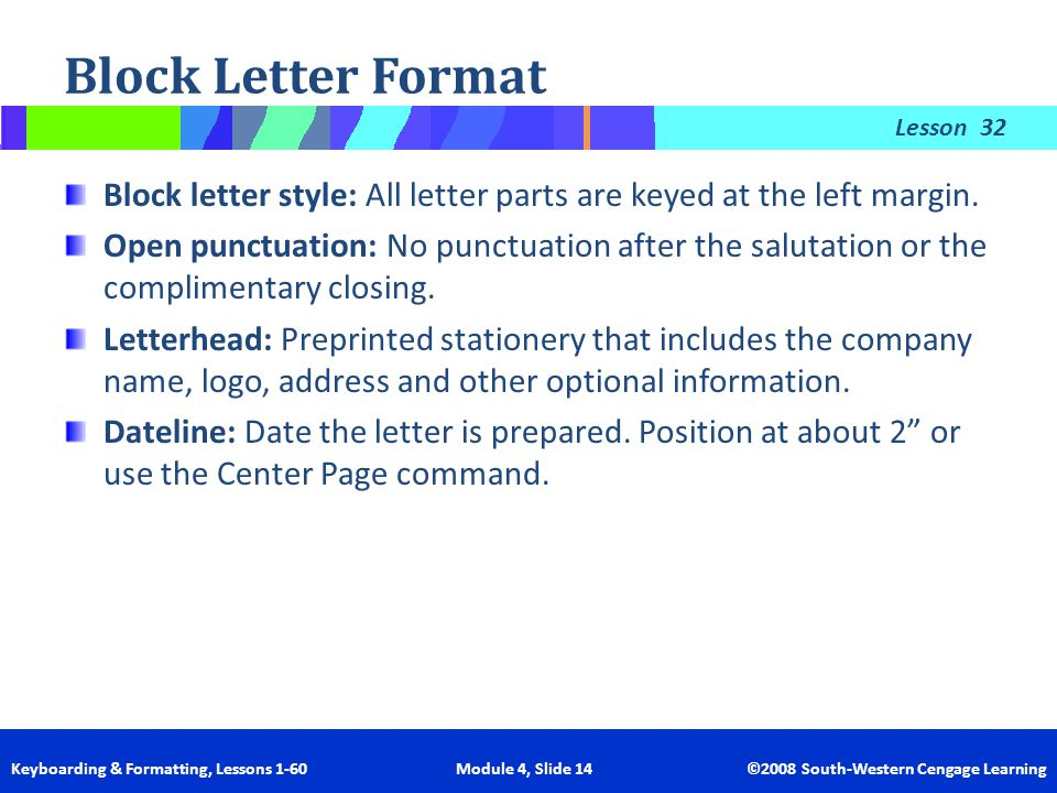 A Letter With Open Punctuation Includes