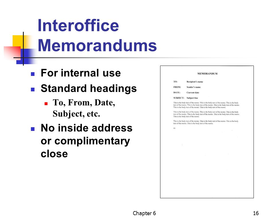 Interoffice Memorandums