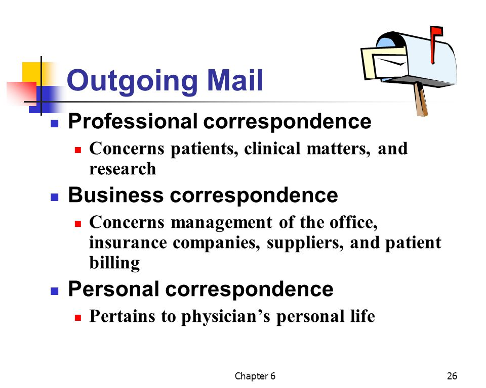 Outgoing Mail Professional correspondence Business correspondence