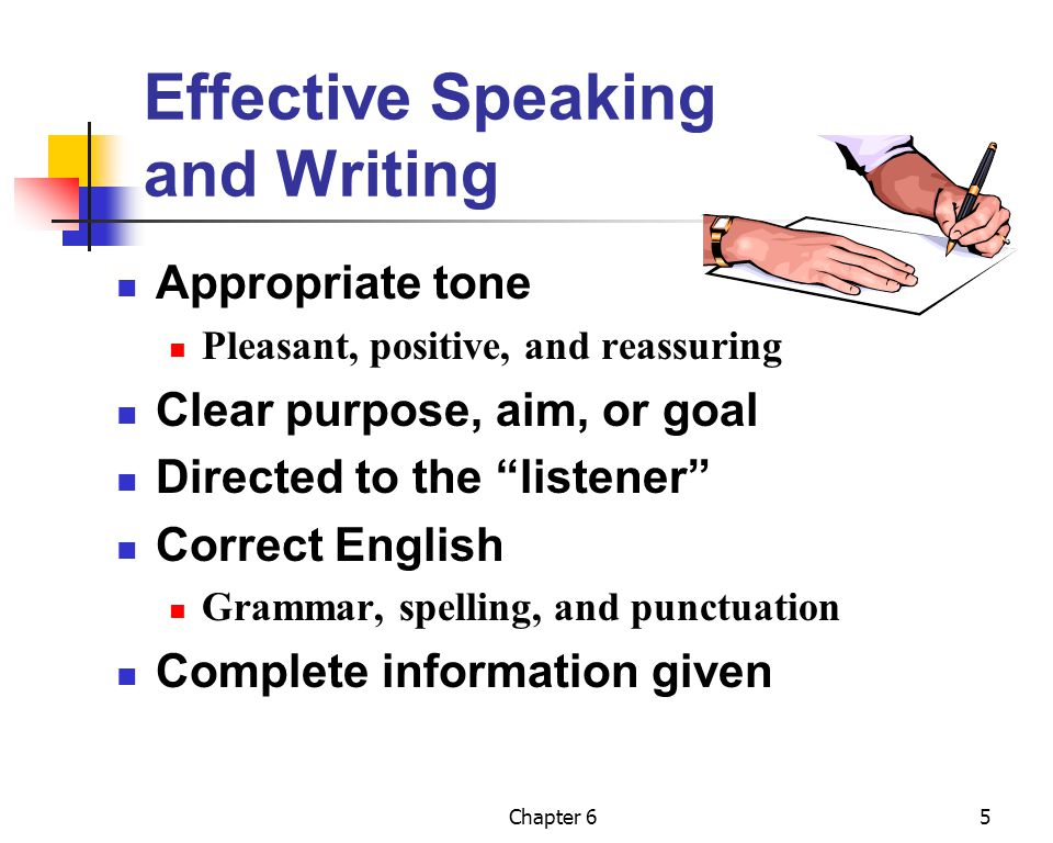 Effective Speaking and Writing