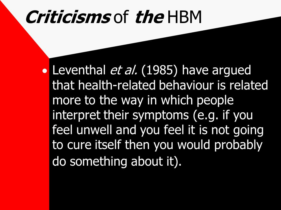 Criticisms of the HBM