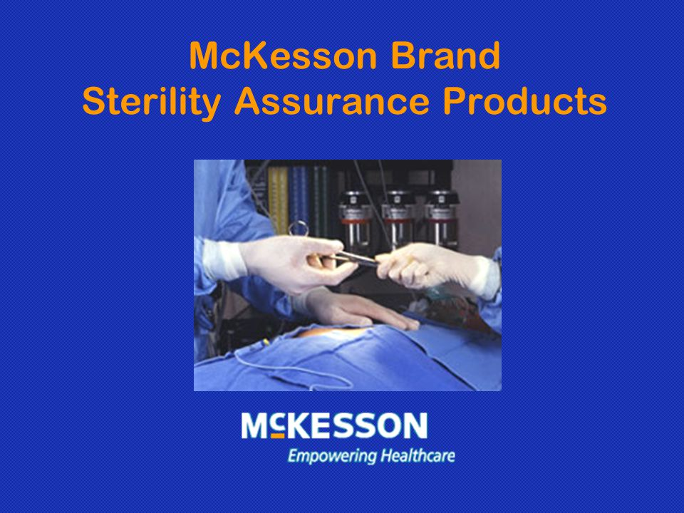 McKesson Brand Sterility Assurance Products