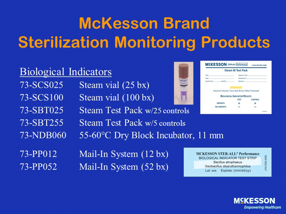 McKesson Brand Sterilization Monitoring Products