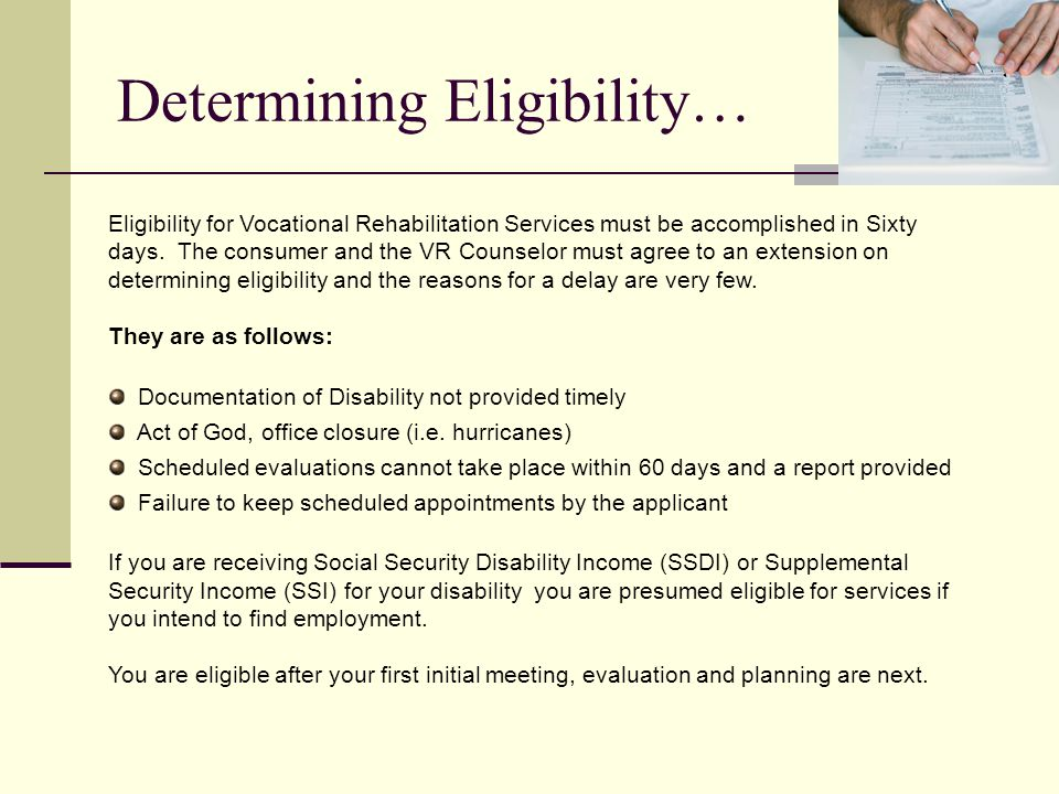 Determining Eligibility…