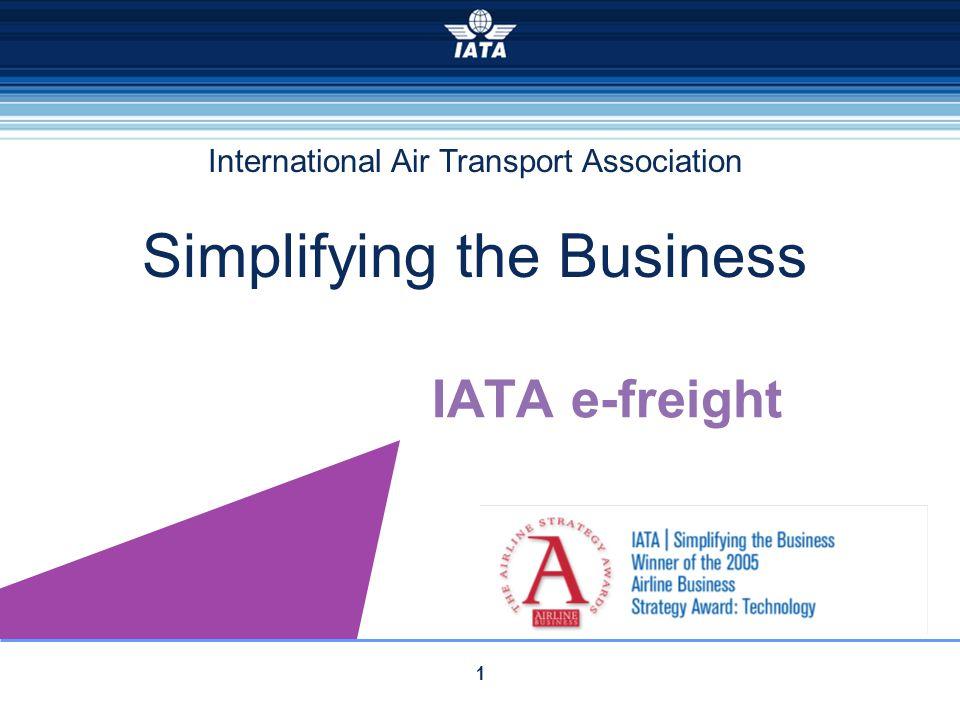International Air Transport Association Simplifying the Business