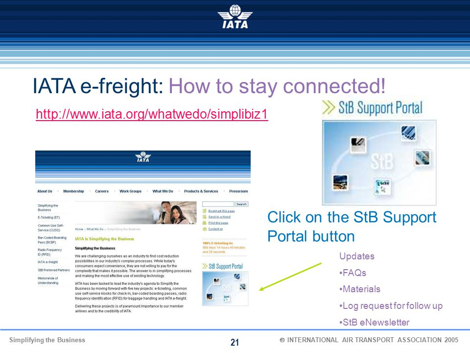 IATA e-freight: How to stay connected!
