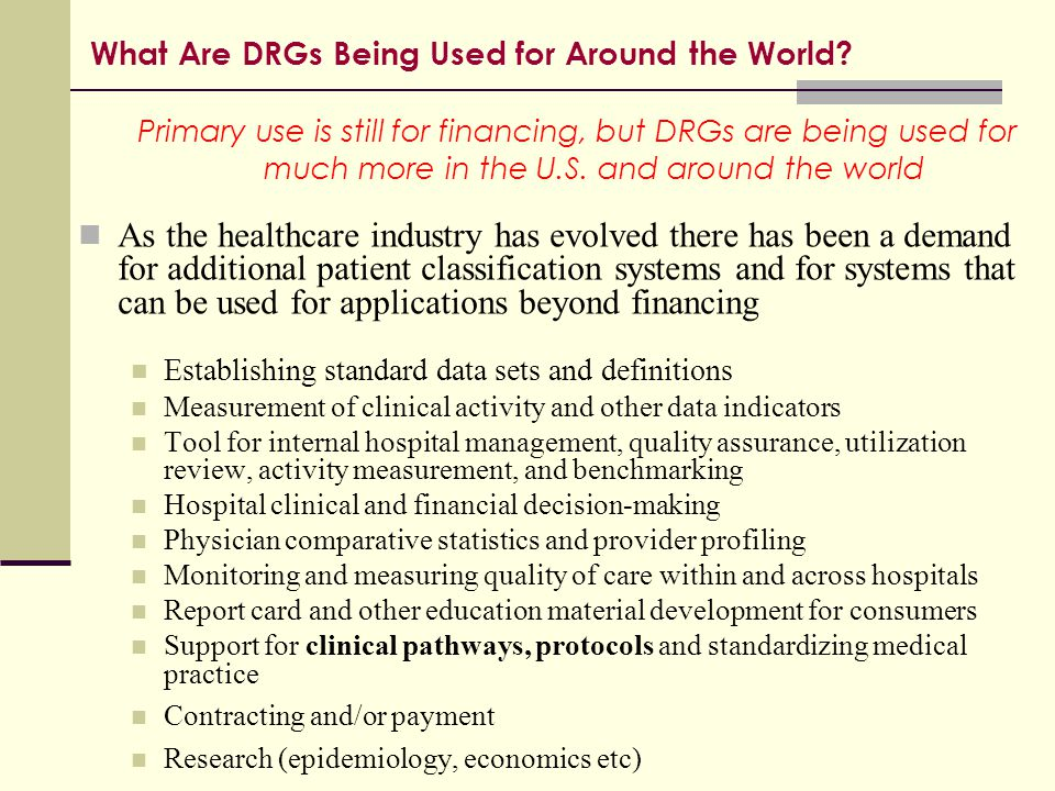 What Are DRGs Being Used for Around the World