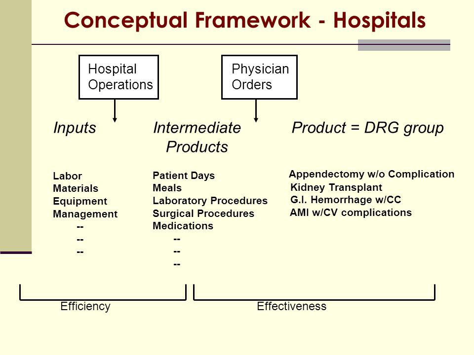 Conceptual Framework - Hospitals