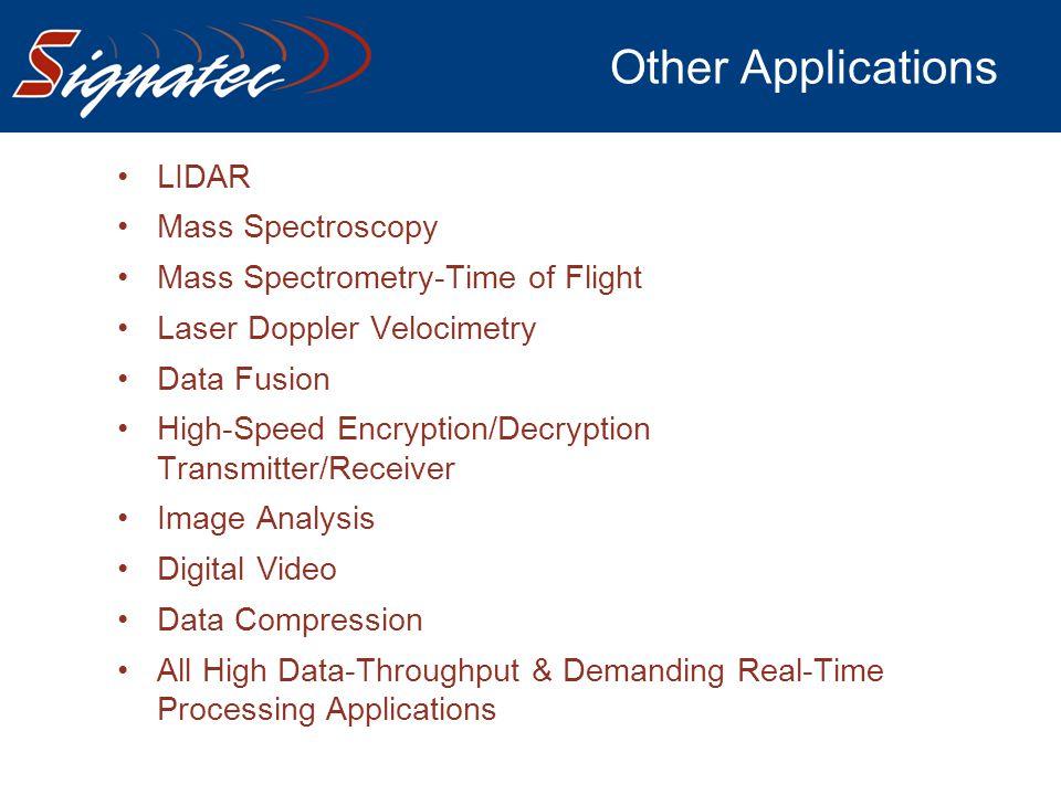 Other Applications LIDAR Mass Spectroscopy