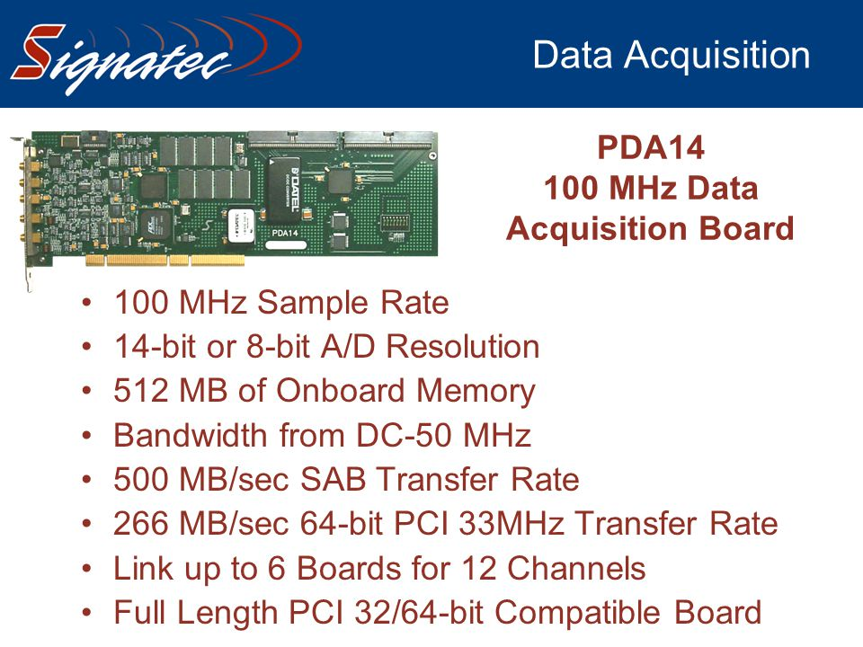 100 MHz Data Acquisition Board