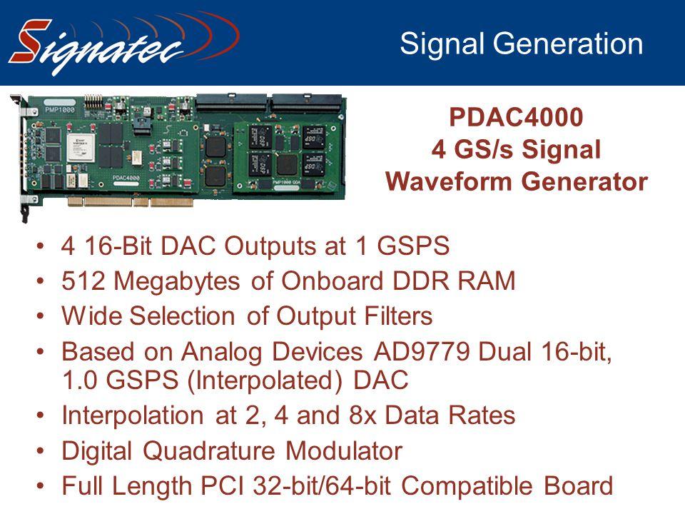 4 GS/s Signal Waveform Generator