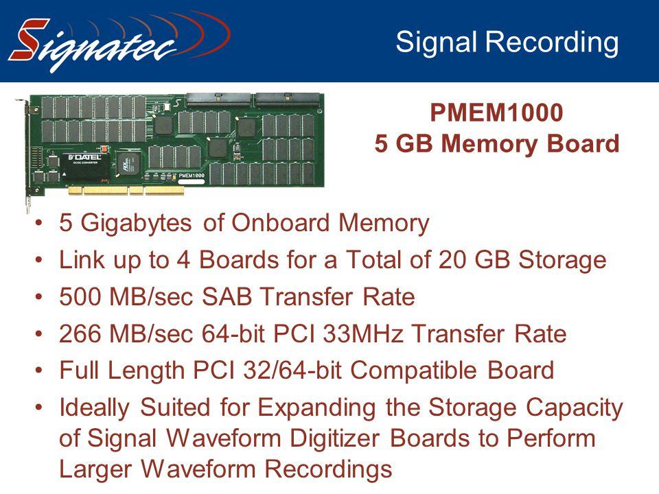 Signal Recording PMEM1000 5 GB Memory Board