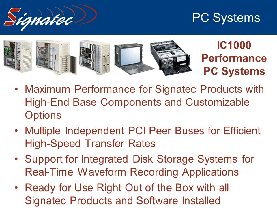 PC Systems IC1000 Performance PC Systems