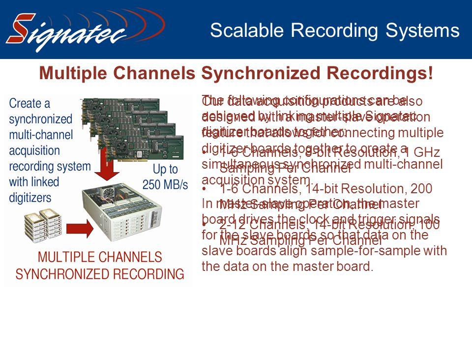 Scalable Recording Systems
