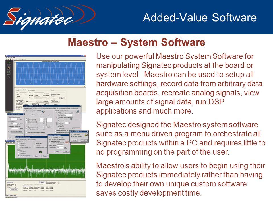Maestro – System Software