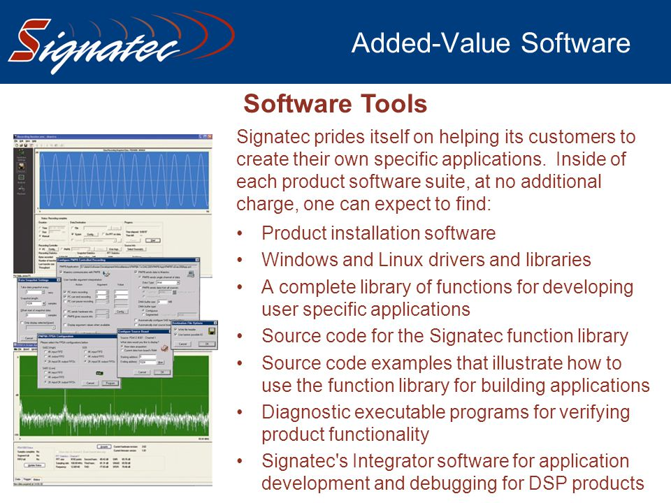 Added-Value Software Software Tools