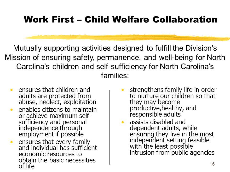 Work First – Child Welfare Collaboration
