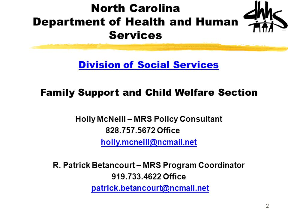 North Carolina Department of Health and Human Services