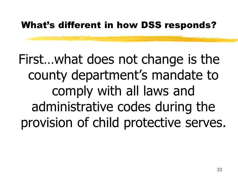 What's different in how DSS responds