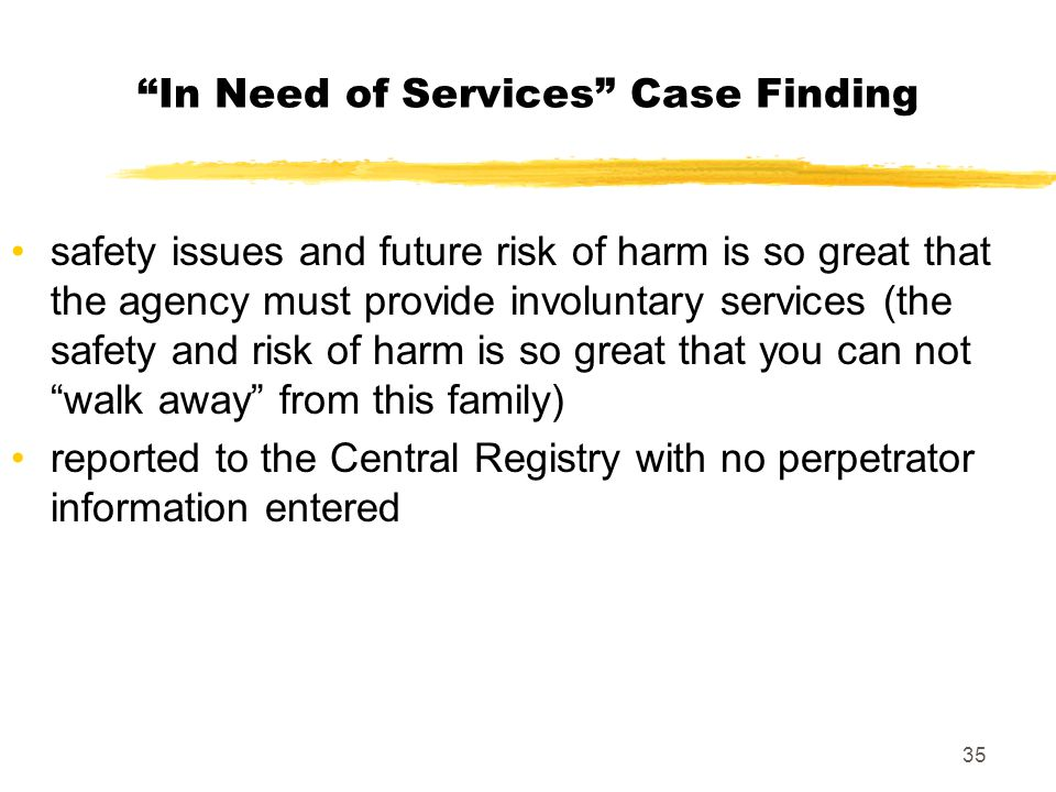In Need of Services Case Finding