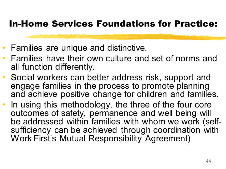 In-Home Services Foundations for Practice: