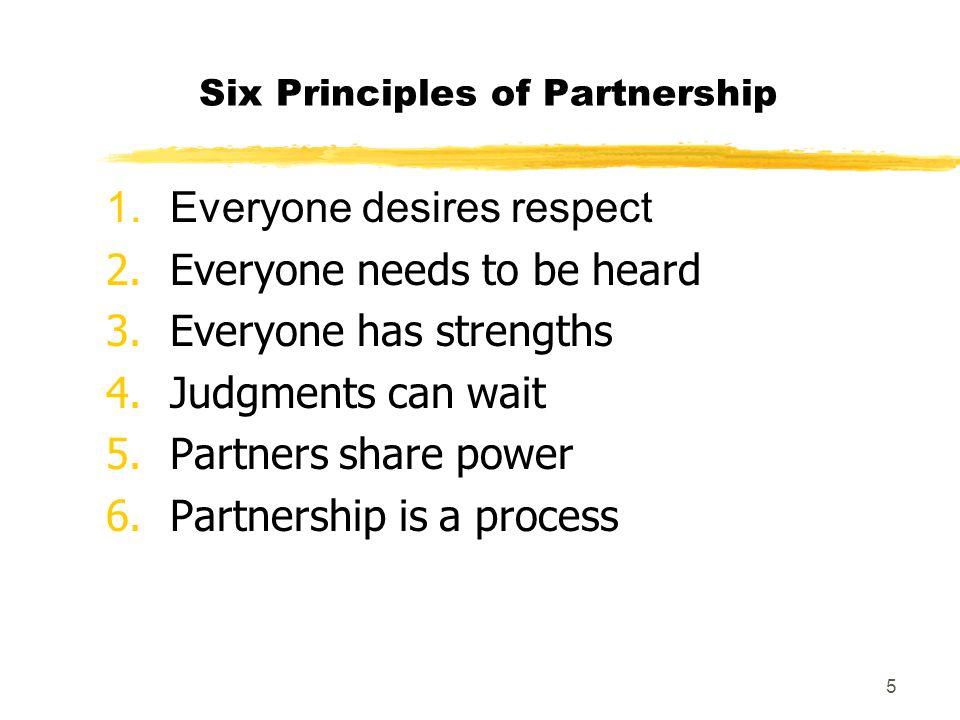 Six Principles of Partnership