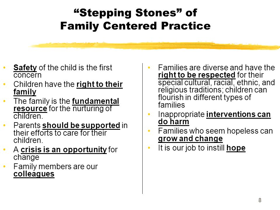 Stepping Stones of Family Centered Practice