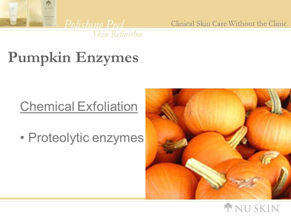 Pumpkin Enzymes Chemical Exfoliation Proteolytic enzymes